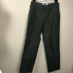 Mountain Khakis green straight leg size 33x34